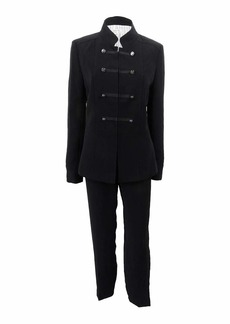 Tahari by Arthur S. Levine Women's Crepe Military Pant Suit