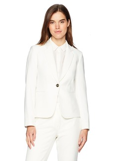 Tahari by Arthur S. Levine Women's Crepe One Button Long Sleeve Jacket