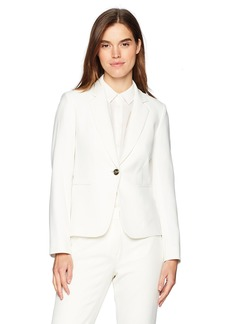 Tahari by Arthur S. Levine Women's Crepe One Button Long Sleeve Jacket