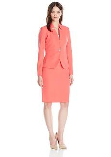 Tahari by Arthur S. Levine Women's Crepe One Button Pant Suit