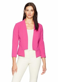 Tahari by Arthur S. Levine Women's Crepe Open Front Jacket Cutout Bottom