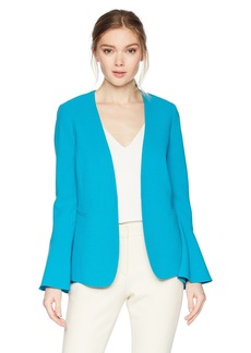 Tahari by Arthur S. Levine Women's Crepe Open Jacket with Tulip Sleeve