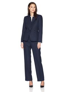 Tahari by Arthur S. Levine Women's Denim Short Sleeve Skirt Suit