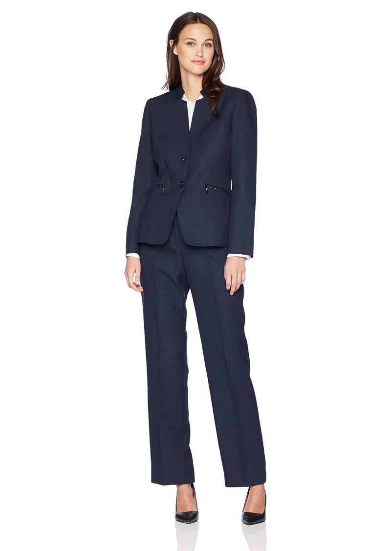 Tahari by Arthur S. Levine Women's Denim Short Sleeve Skirt Suit