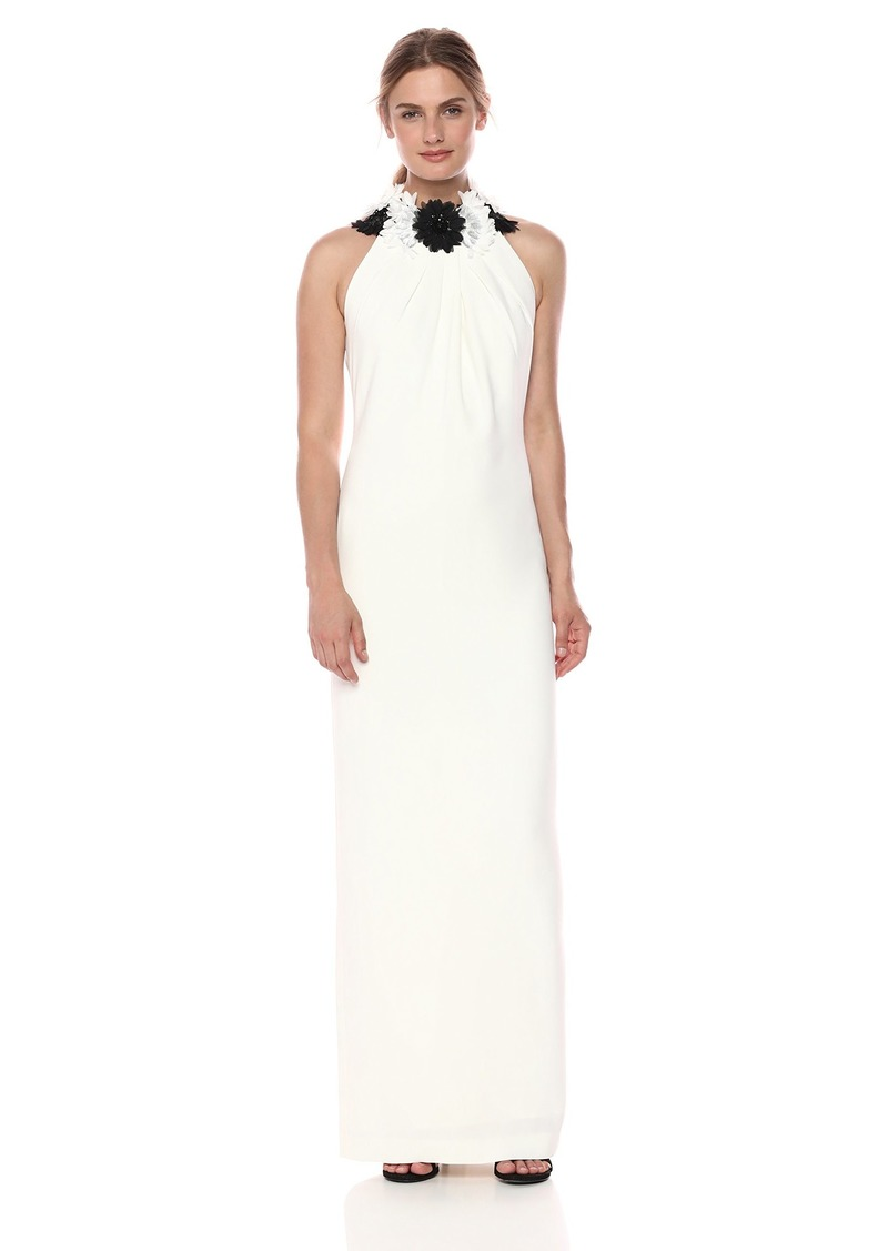 Tahari by Arthur S. Levine Women's Floral Neck Gown