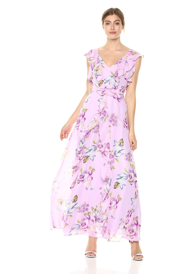 Tahari by Arthur S. Levine Women's Floral Sleeveless Printed Orchid/Purple/sage