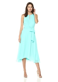 Tahari by Arthur S. Levine Women's Keyhole Chiffon Dress