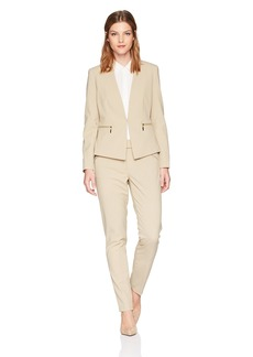 Tahari by Arthur S. Levine Women's Long Sleeve Pant Suit With Open Jacket