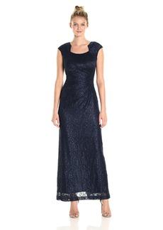 Tahari by Arthur S. Levine Women's Mettalic Lace Long Gown