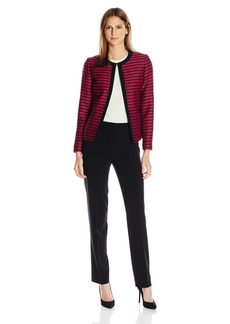 Tahari by Arthur S. Levine Women's Missy Striped Pant Suit