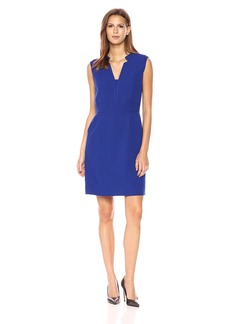Tahari by Arthur S. Levine Women's Notch Neck Sleeveless Dress