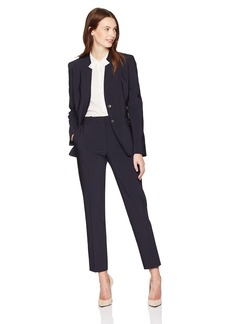 Tahari by Arthur S. Levine Women's Novetly Textured Striped Pant Suit