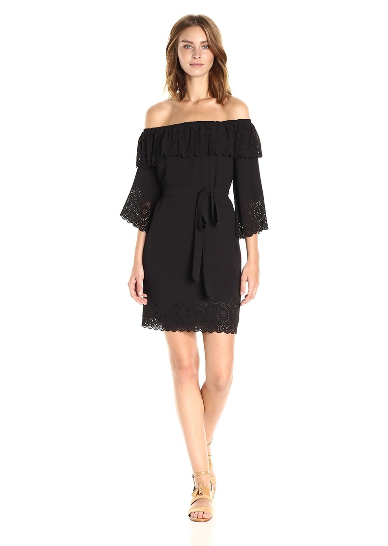 Tahari by Arthur S. Levine Women's Off Shoulder Sleeve Crepe