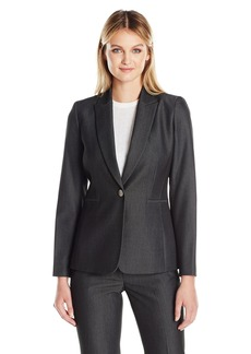 Tahari by Arthur S. Levine Women's One Button Bi-Stretch Jacket