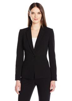 Tahari by Arthur S. Levine Women's One Button Bi-Stretch Jacket Notch Collar