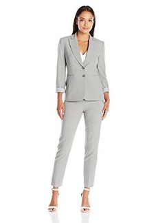 Tahari by Arthur S. Levine Women's Petite Asl Bistretch Pant Suit with Striped Lining