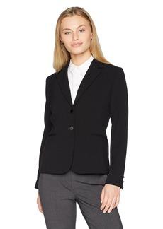 Tahari by Arthur S. Levine Women's Petite Basic Bi-Stretch Long Sleeve Jacket