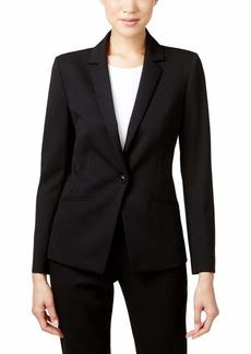 Tahari by Arthur S. Levine Women's Petite Bi-Stretch One Button Jacket with Pinstripe Lining
