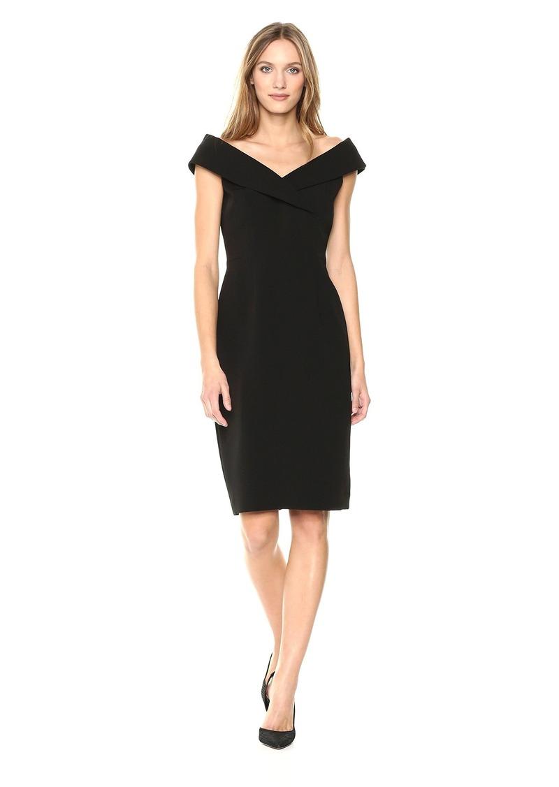 Tahari by Arthur S. Levine Women's Petite Envelope Neck Sleeveless Dress  14P