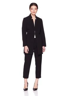 Tahari by Arthur S. Levine Women's Petite Notch Collar Topper Jacket Pant Suit  14P