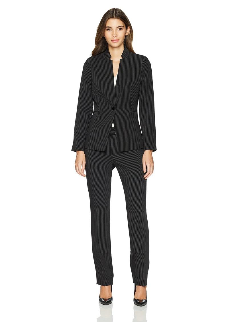 4a2518110a by Arthur S. Levine Women's Petite Pinstripe Long Sleeve Pant Suit 0P