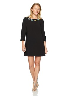 Tahari by Arthur S. Levine Women's Petite Size Bell Sleeve with Embellished Neckline  4P
