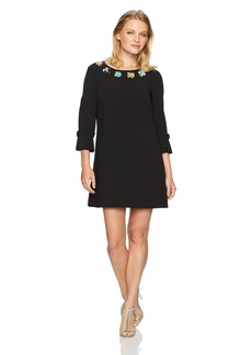 Tahari by Arthur S. Levine Women's Petite Size Bell Sleeve with Embellished Neckline  8P