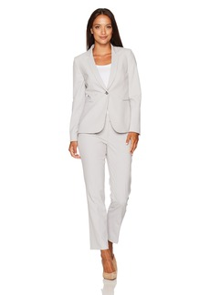 Tahari by Arthur S. Levine Women's Petite Size  Bi Stretch One Button Pant Suit