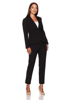 Tahari by Arthur S. Levine Women's Petite Size Bi Stretch Two Button Pant Suit  8P