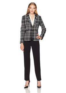 Tahari by Arthur S. Levine Women's Petite Size Plaid Jacket Pant Suit  6P