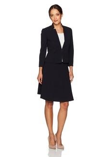 Tahari by Arthur S. Levine Women's Petite Size Suit with a-Line Skirt  0P