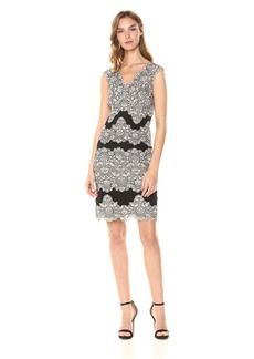Tahari by Arthur S. Levine Women's Petite Sleeveless lace Sheath Dress  12P