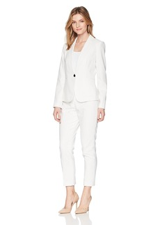 Tahari by Arthur S. Levine Women's Pinstripe Long Sleeve Jacket Pant Suit