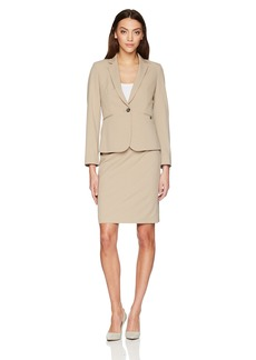 Tahari by Arthur S. Levine Women's Pinstriple Long Sleeve One Button Closure Jacket