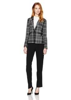 Tahari by Arthur S. Levine Women's Plaid Jacket Pant Suit