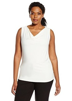 Tahari by Arthur S. Levine Women's Plus Size Asl Ruffle Top
