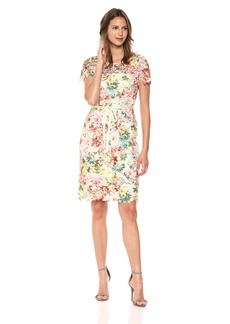 Tahari by Arthur S. Levine Women's Printed Chemical Lace Dress