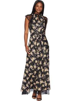 Tahari by Arthur S. Levine Women's Printed Chiffon Gown