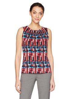 Tahari by Arthur S. Levine Women's Printed Matte Jersey Top  XS