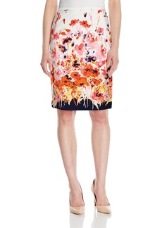 Tahari by Arthur S. Levine Women's Printed Poplin Pencil Skirt