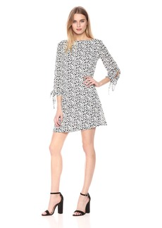 Tahari by Arthur S. Levine Women's Relaxed Fit Georgette Dress with Long Sleeves