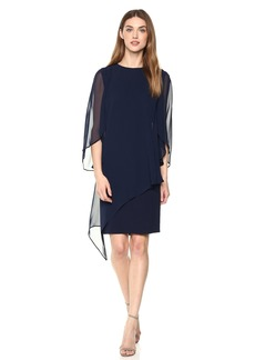 Tahari by Arthur S. Levine Women's Scoop Neck Long Sleeve Dress