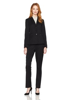 Tahari by Arthur S. Levine Women's Shadow Stripe Pant Suit