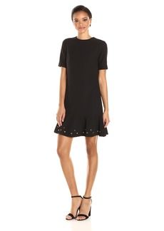 Tahari by Arthur S. Levine Women's Short Sleeve Knit Ottoman Dress