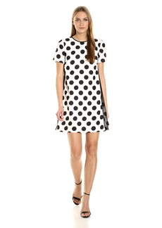 Tahari by Arthur S. Levine Women's Short Sleeve Polka Dot Dress
