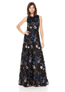 Tahari by Arthur S. Levine Women's Sleeveless Embroidered Gown