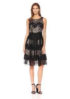 Tahari by Arthur S. Levine Women's Sleeveless Fit and Flare Lace Dress