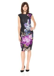 Tahari by Arthur S. Levine Women's Sleeveless Floral Printed Sheath Dress