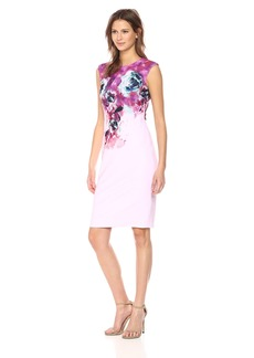 Tahari by Arthur S. Levine Women's Sleeveless Scuba Crepe Dress