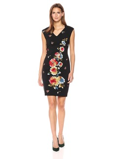 Tahari by Arthur S. Levine Women's Sleeveless Sheath Dress with Floral Print